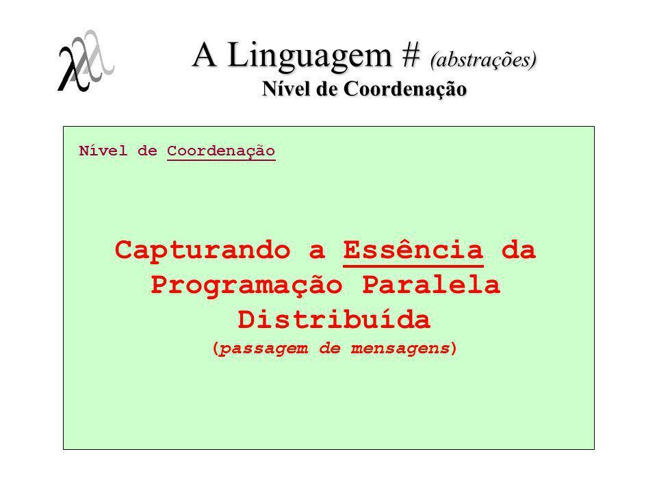 A Linguagem # (abstrações) Nível de Coordenação