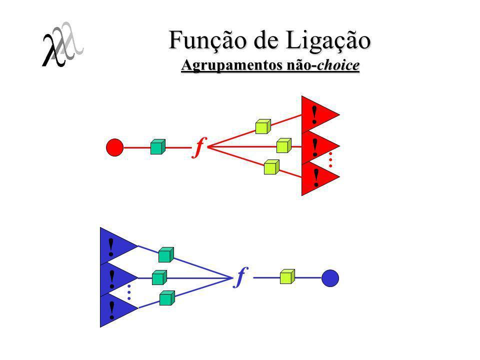 Função de Ligação Agrupamentos não-choice