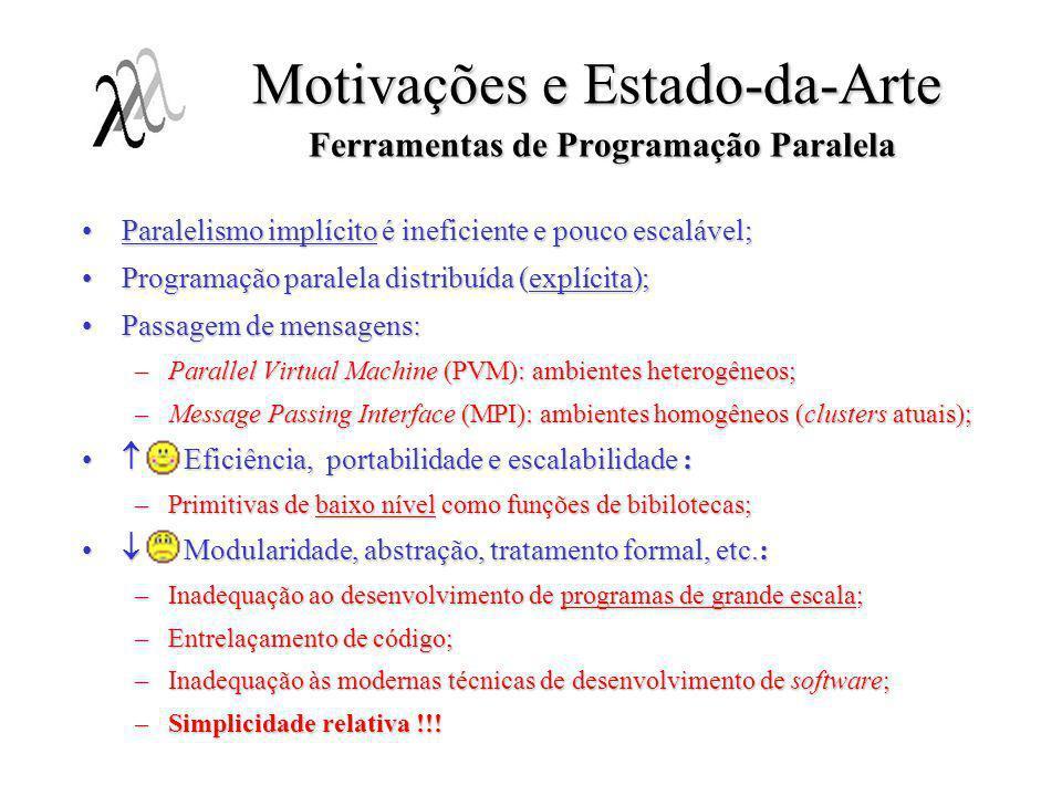 Motivações e Estado-da-Arte Ferramentas de Programação Paralela