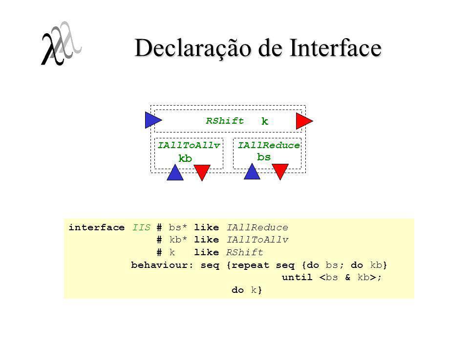 Declaração de Interface