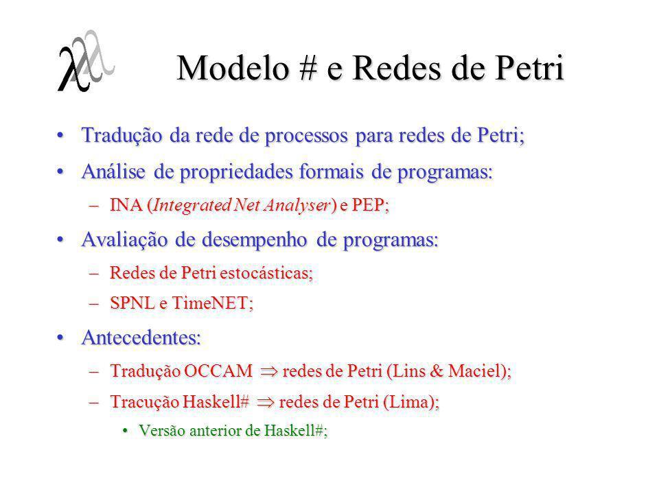 Modelo # e Redes de Petri