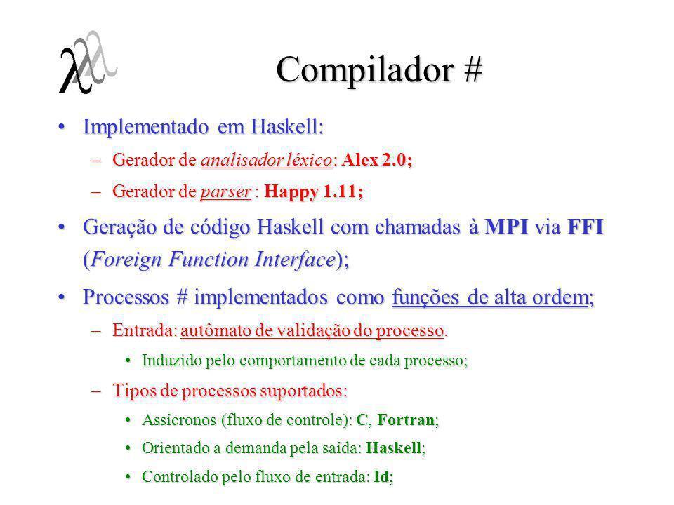 Compilador # Implementado em Haskell:
