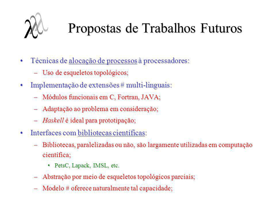 Propostas de Trabalhos Futuros