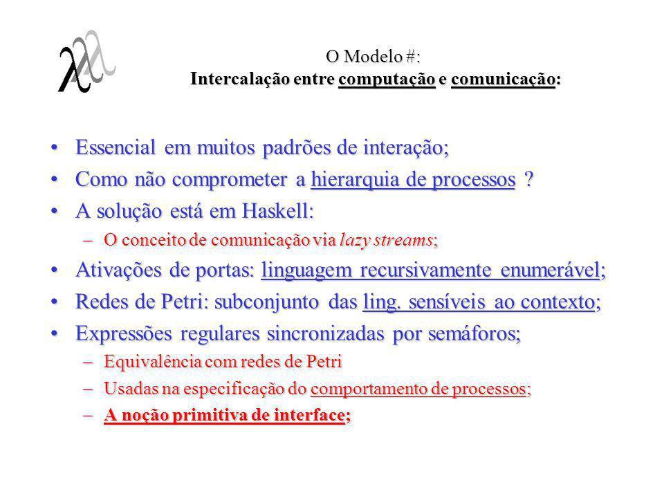 O Modelo #: Intercalação entre computação e comunicação:
