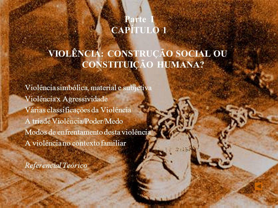 VIOLÊNCIA: CONSTRUÇÃO SOCIAL OU CONSTITUIÇÃO HUMANA
