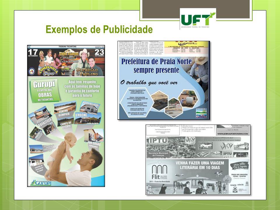 Exemplos de Publicidade