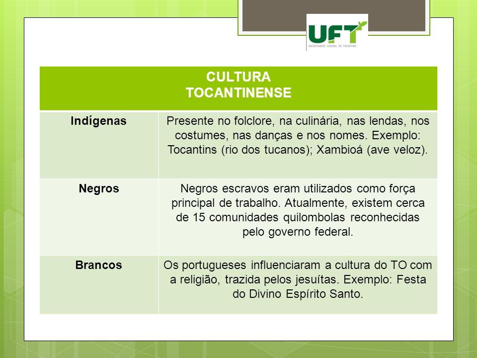 CULTURA TOCANTINENSE Indígenas