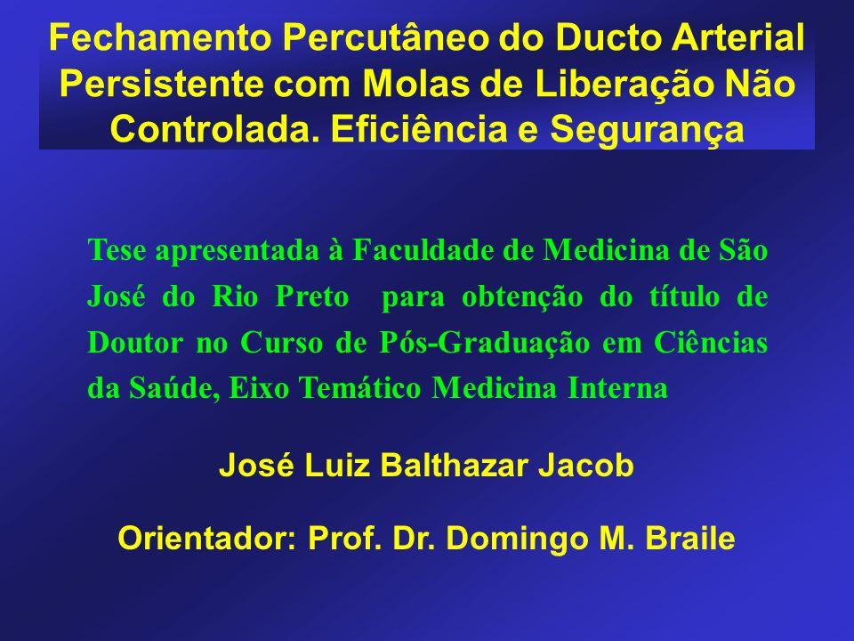 José Luiz Balthazar Jacob Orientador: Prof. Dr. Domingo M. Braile