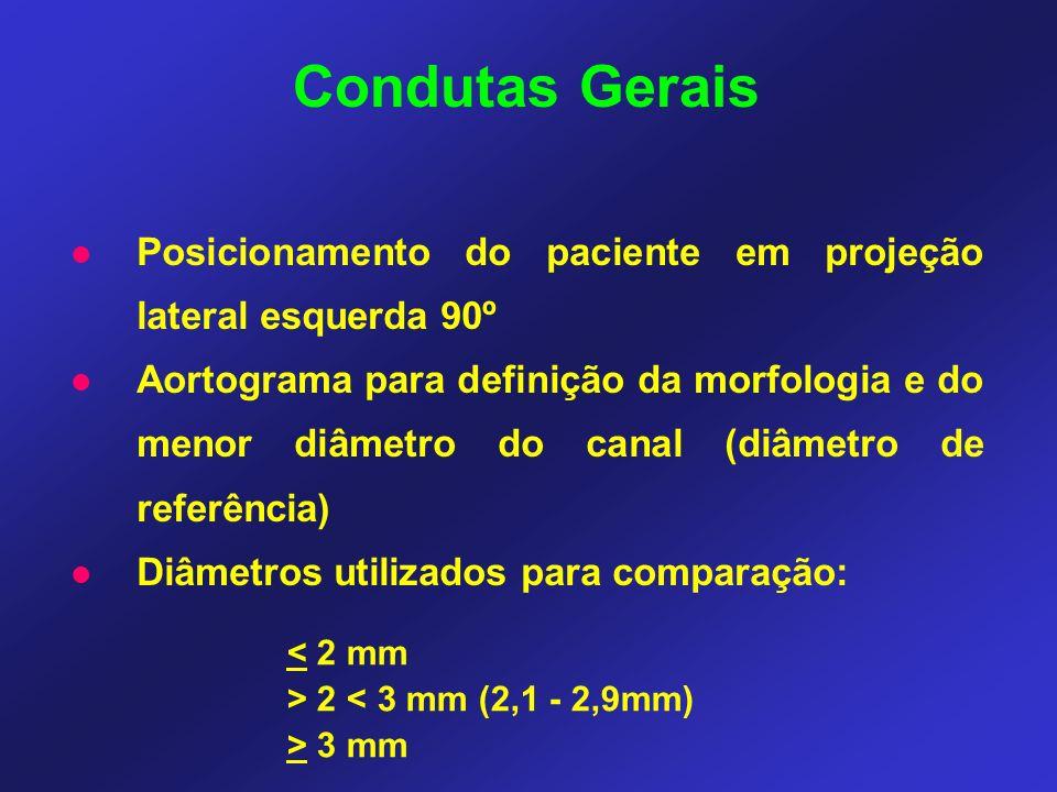 Condutas Gerais Posicionamento do paciente em projeção lateral esquerda 90º.
