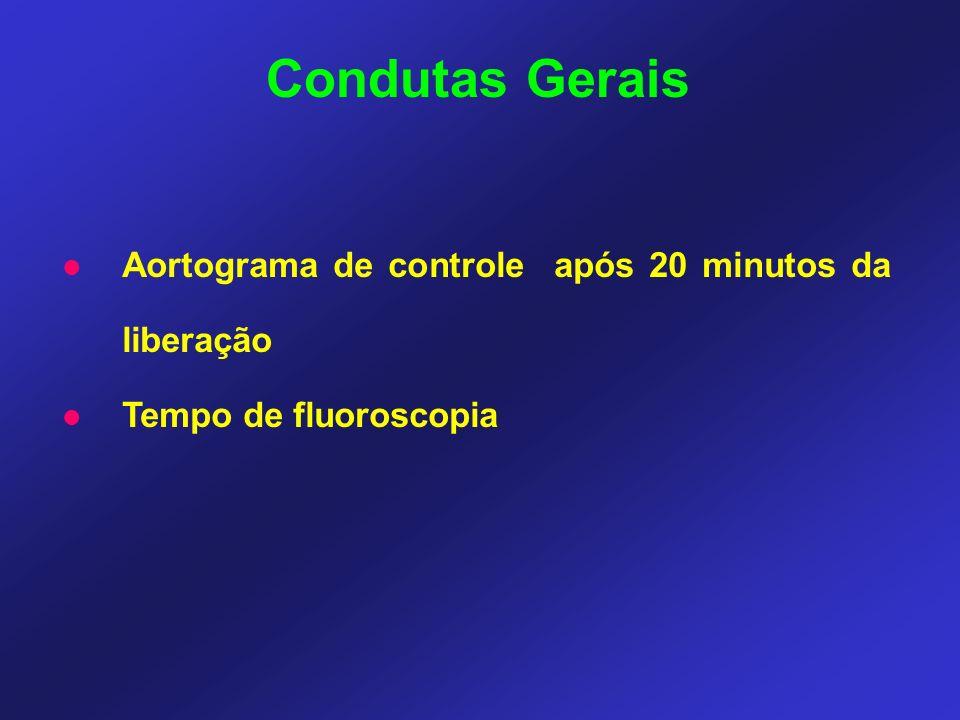 Condutas Gerais Aortograma de controle após 20 minutos da liberação