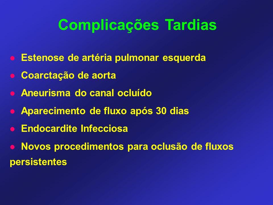 Complicações Tardias Estenose de artéria pulmonar esquerda