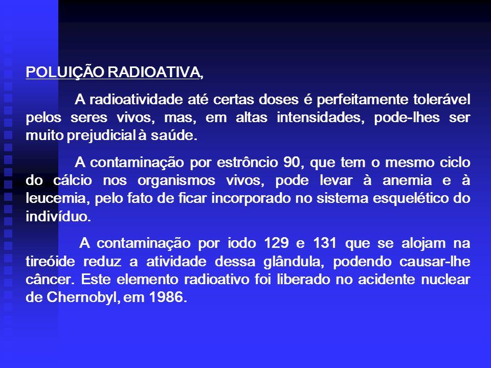 POLUIÇÃO RADIOATIVA,