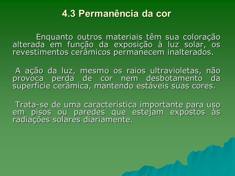 4.3 Permanência da cor