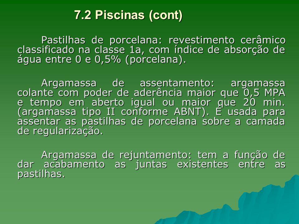 7.2 Piscinas (cont)