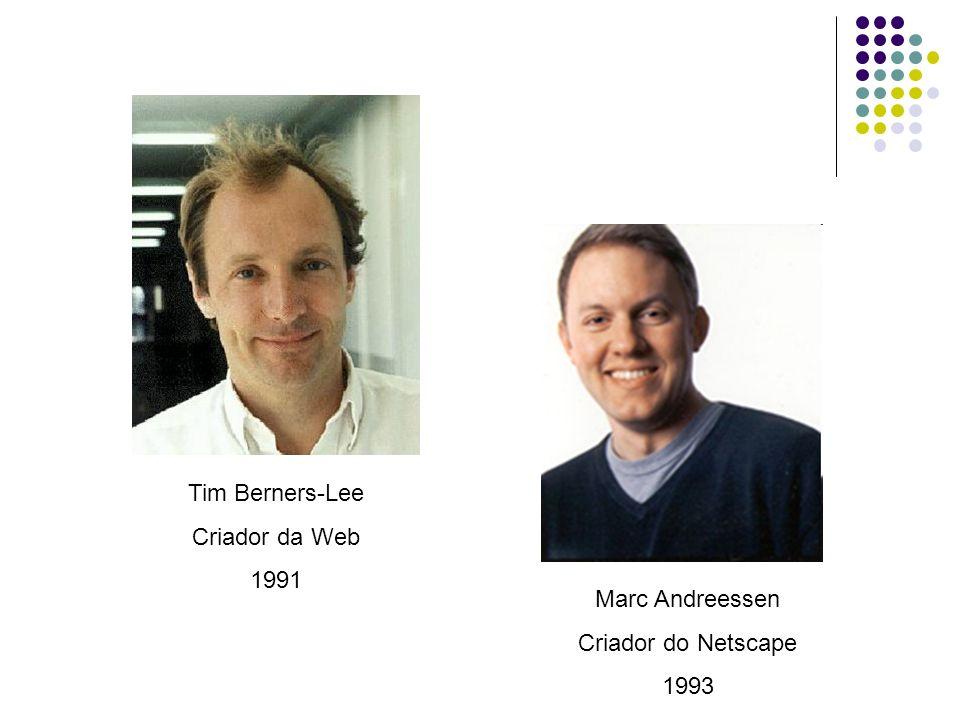 Tim Berners-Lee Criador da Web 1991 Marc Andreessen Criador do Netscape 1993