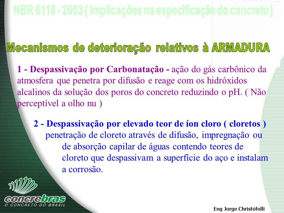 Mecanismos de deterioração relativos à ARMADURA