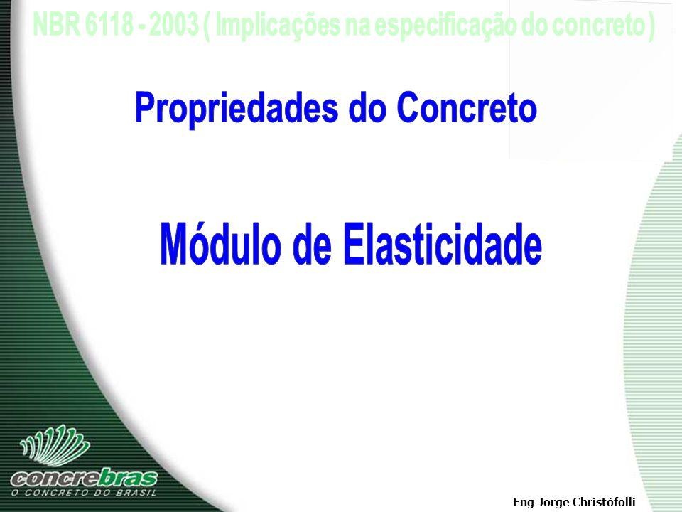 Propriedades do Concreto Módulo de Elasticidade