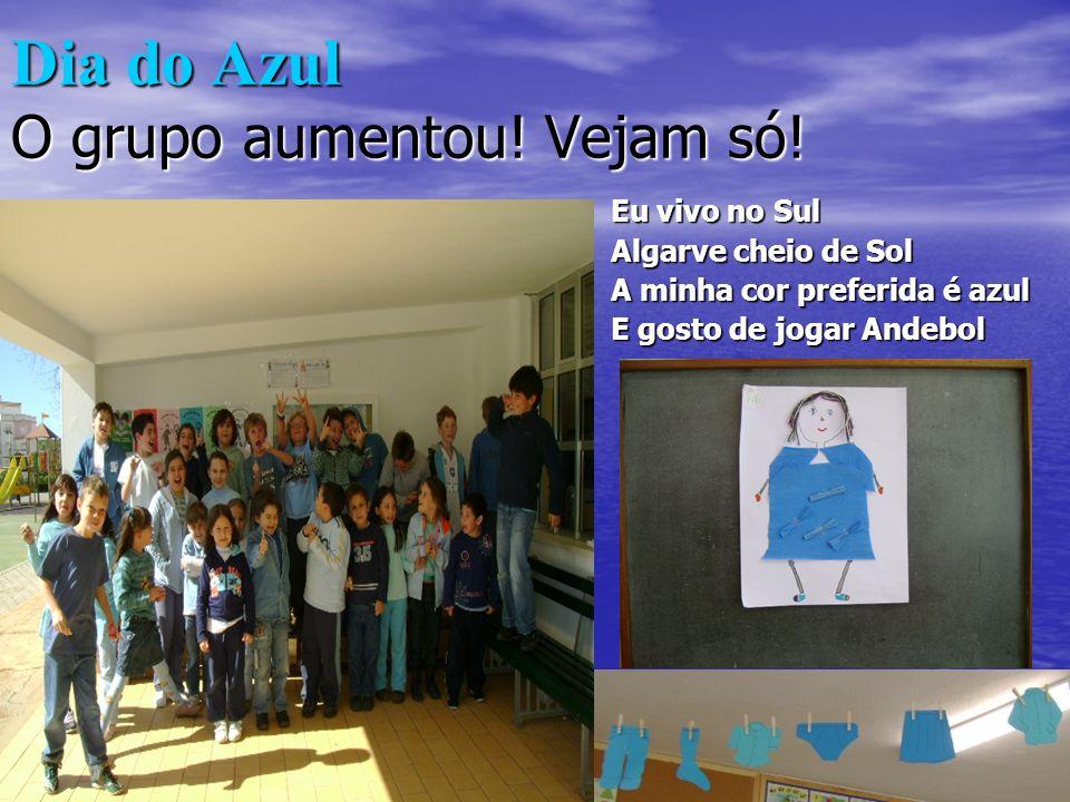 Dia do Azul O grupo aumentou! Vejam só!