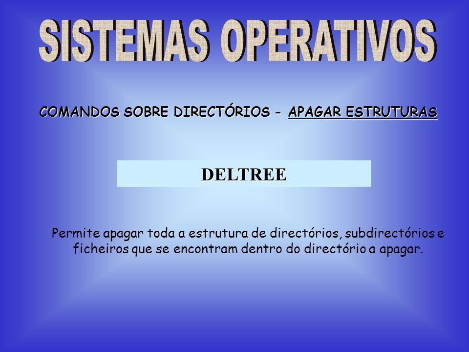COMANDOS SOBRE DIRECTÓRIOS - APAGAR ESTRUTURAS