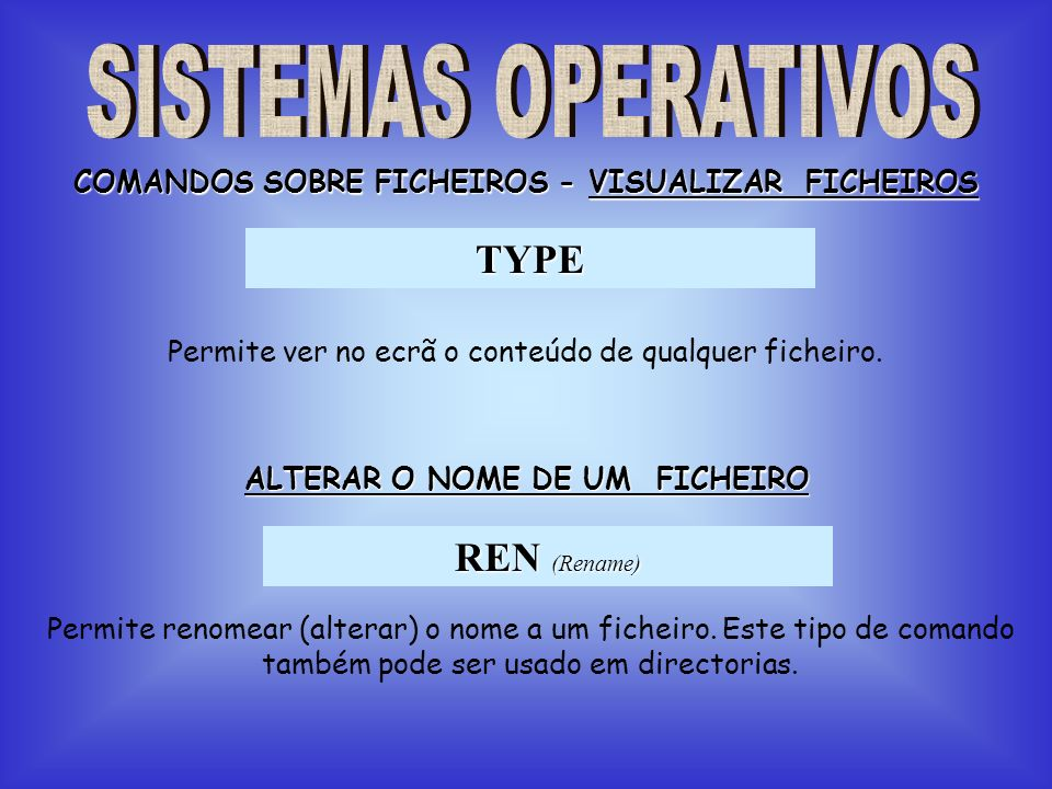 TYPE REN (Rename) SISTEMAS OPERATIVOS