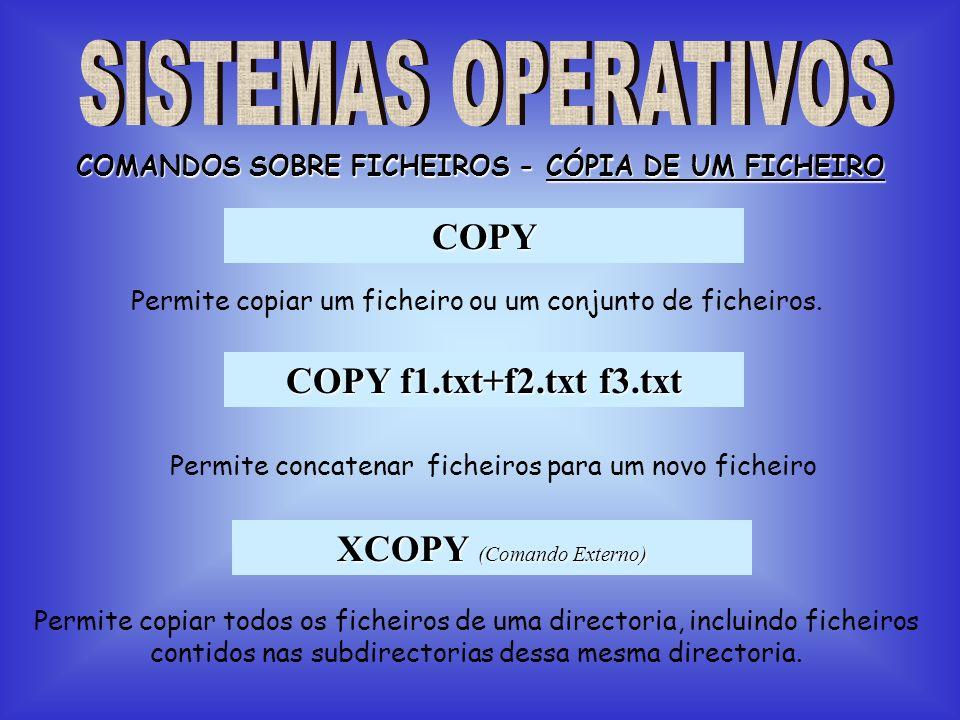 COMANDOS SOBRE FICHEIROS - CÓPIA DE UM FICHEIRO