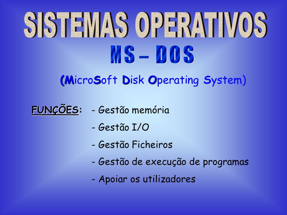 (MicroSoft Disk Operating System)