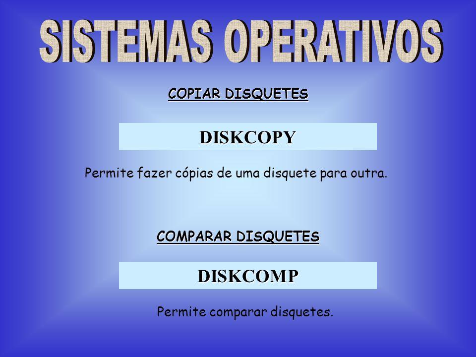 DISKCOPY DISKCOMP SISTEMAS OPERATIVOS COPIAR DISQUETES