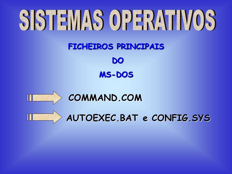 AUTOEXEC.BAT e CONFIG.SYS