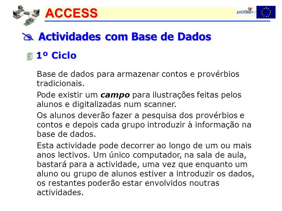  Actividades com Base de Dados