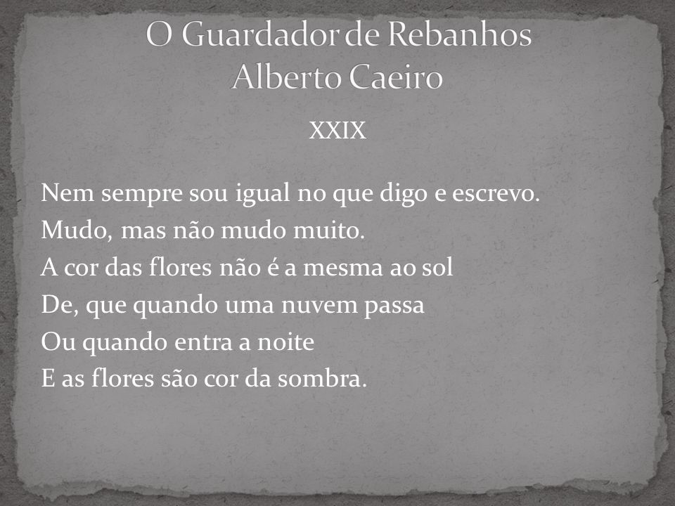 O Guardador de Rebanhos Alberto Caeiro