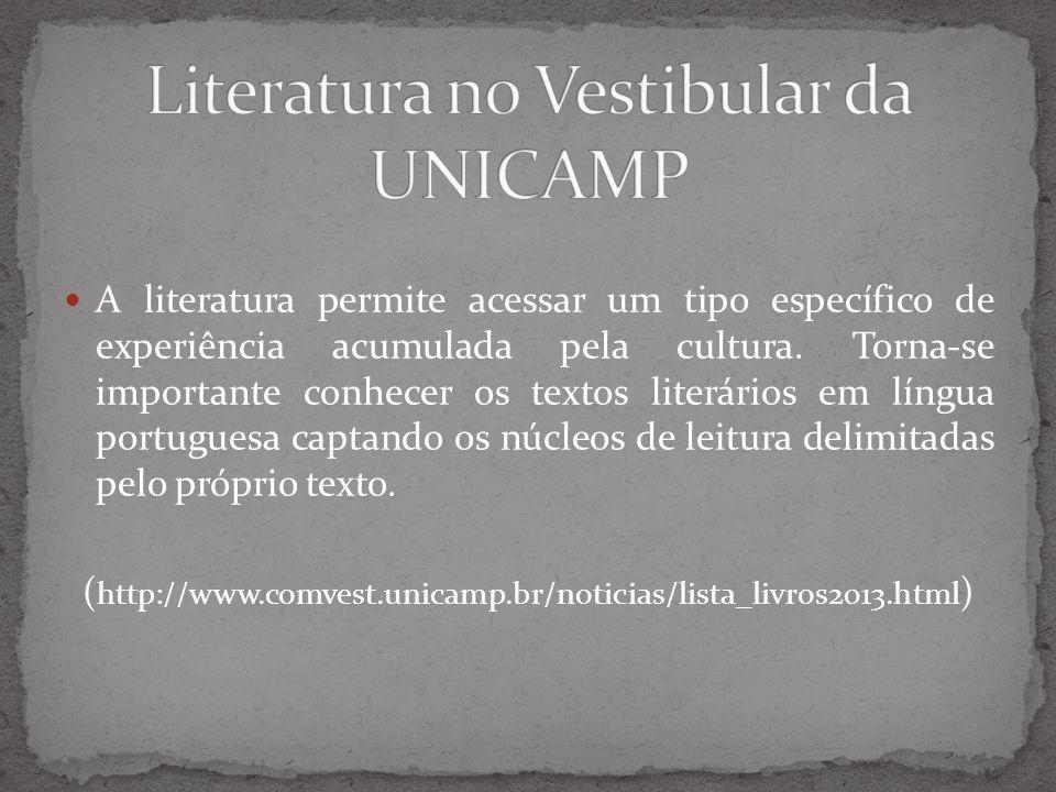 Literatura no Vestibular da UNICAMP