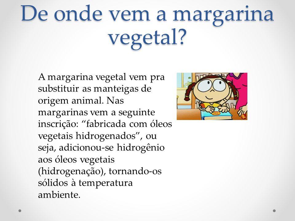 De onde vem a margarina vegetal