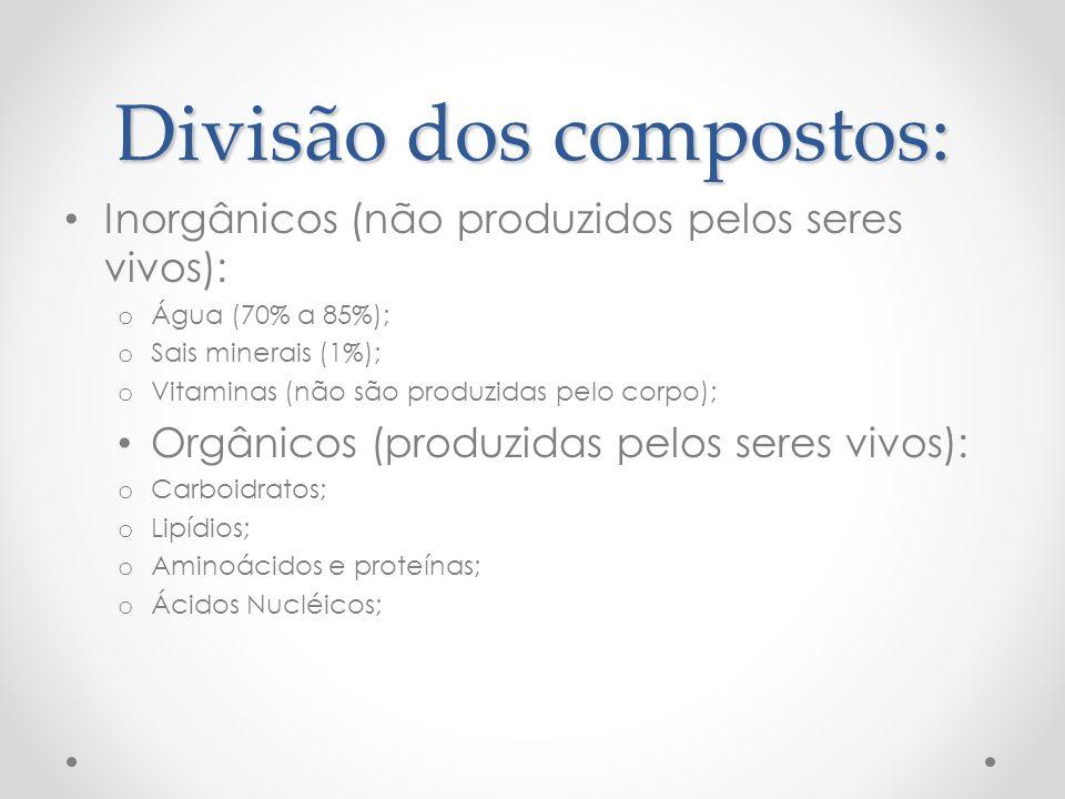Divisão dos compostos: