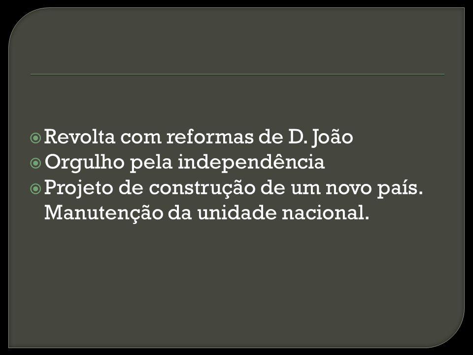 Revolta com reformas de D. João