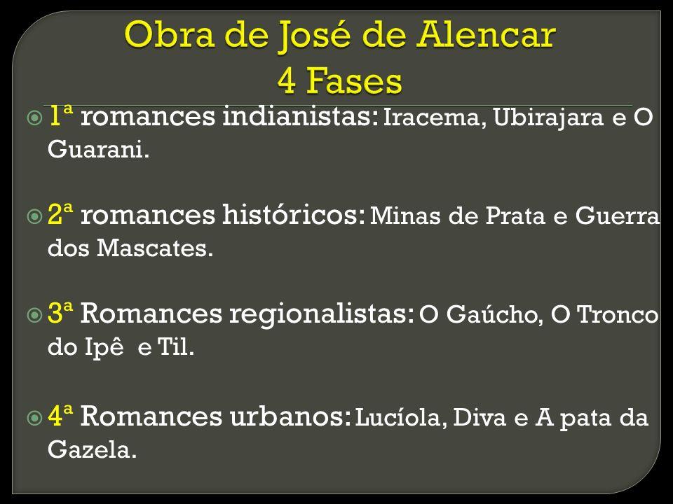 Obra de José de Alencar 4 Fases