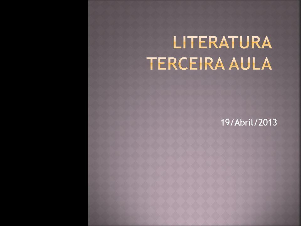 Literatura Terceira Aula