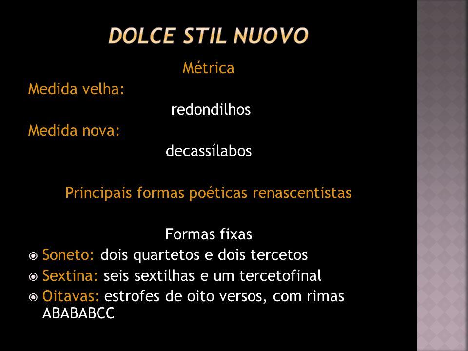 Principais formas poéticas renascentistas