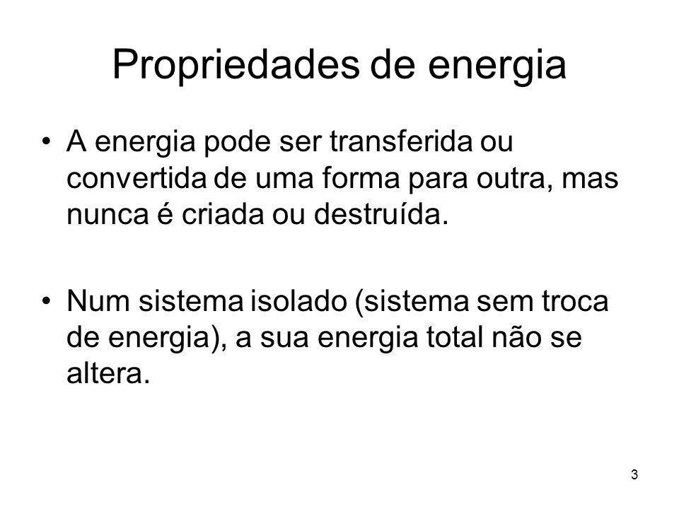 Propriedades de energia