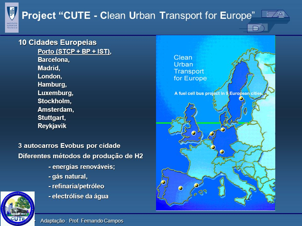 Project CUTE - Clean Urban Transport for Europe