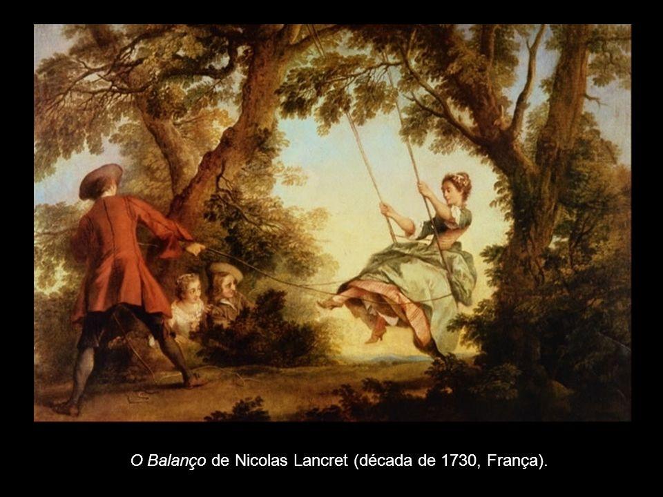 O Balanço de Nicolas Lancret (década de 1730, França).