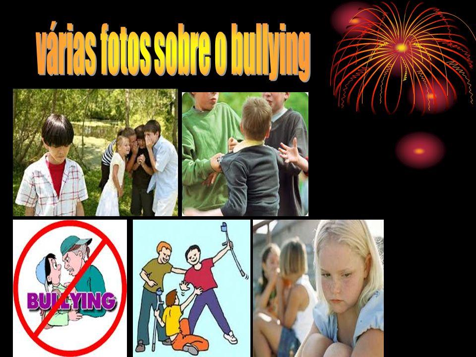 várias fotos sobre o bullying