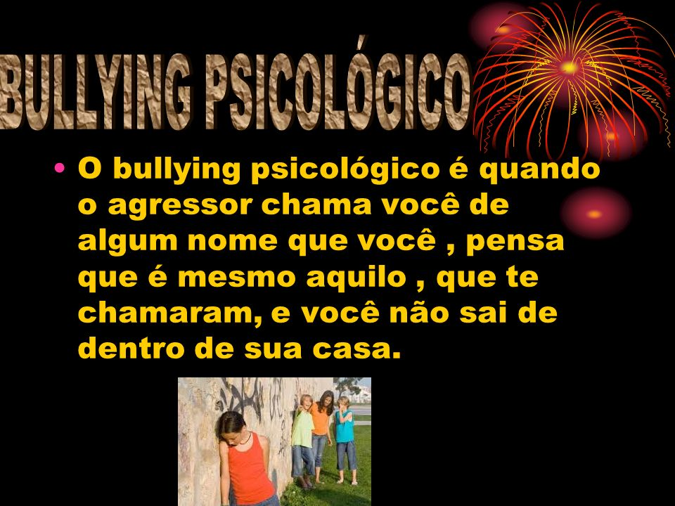 BULLYING PSICOLÓGICO