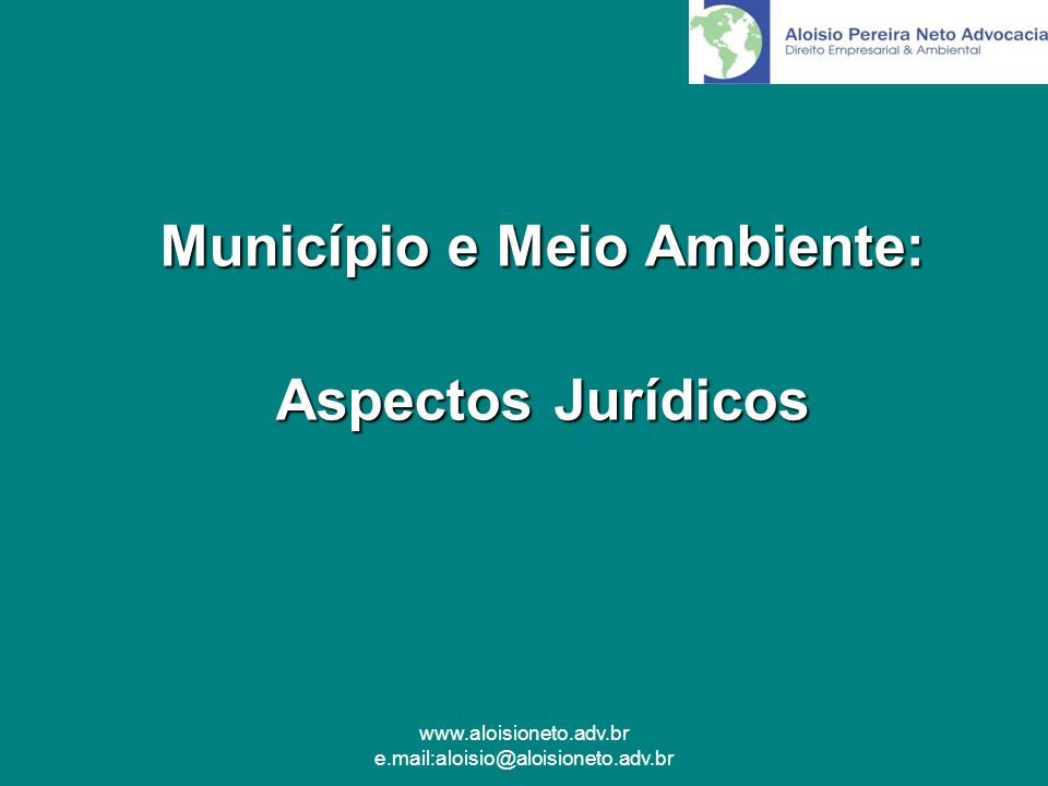 Município e Meio Ambiente: Aspectos Jurídicos