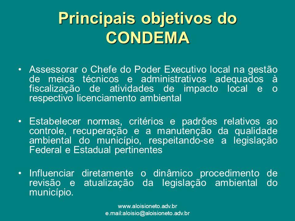 Principais objetivos do CONDEMA