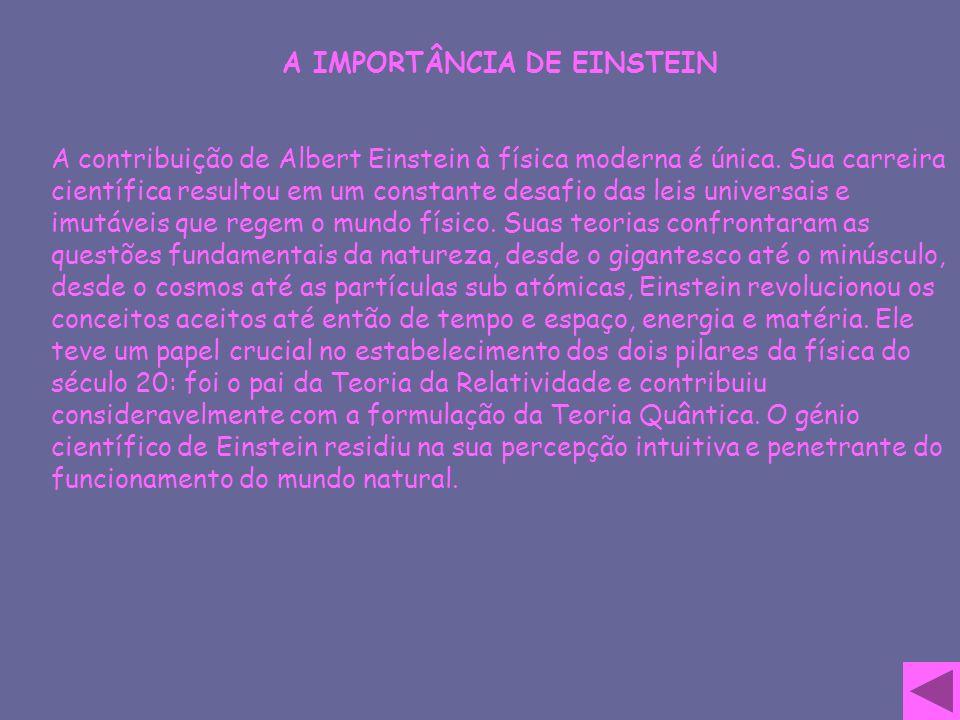 A IMPORTÂNCIA DE EINSTEIN
