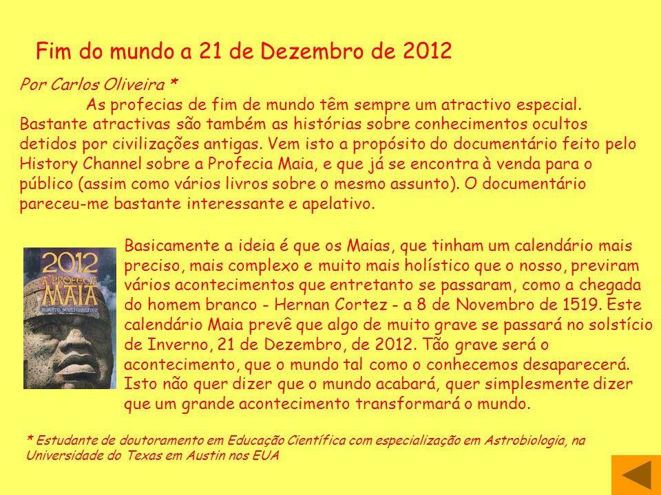 Fim do mundo a 21 de Dezembro de 2012