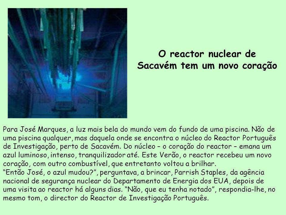 O reactor nuclear de Sacavém tem um novo coração