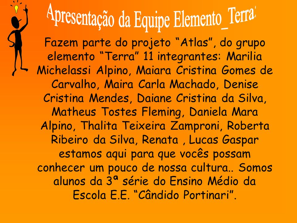 Apresentação da Equipe Elemento_Terra: