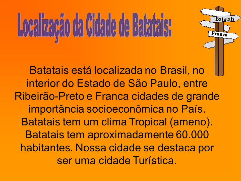 Localização da Cidade de Batatais: