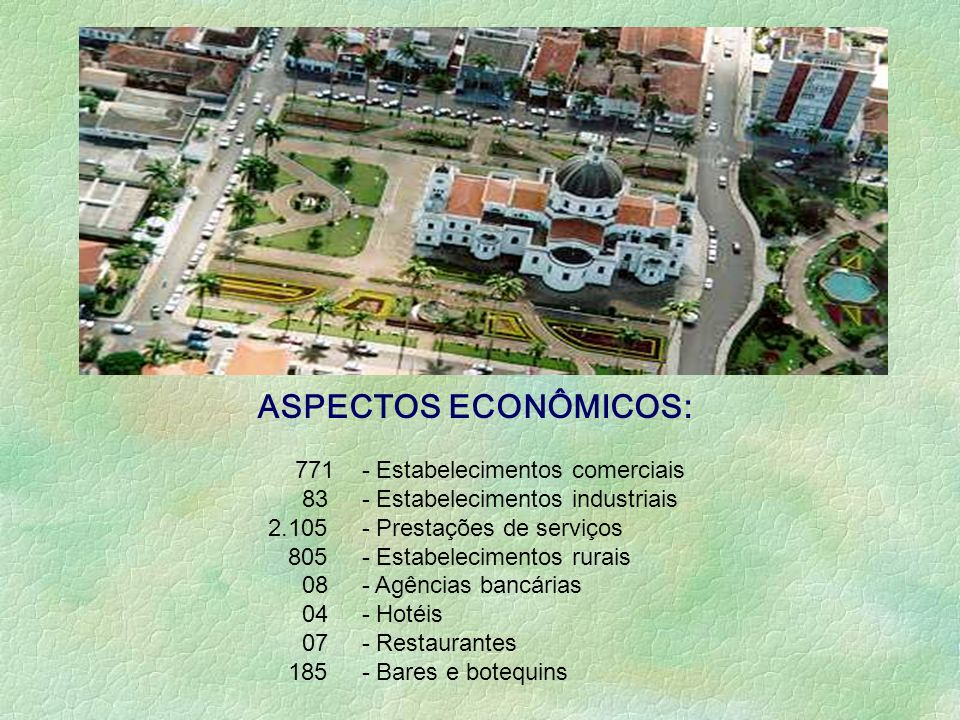 ASPECTOS ECONÔMICOS: